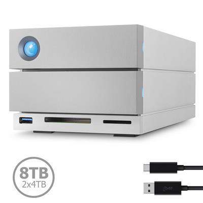 STGB8000400 Disco LaCie 2Big Dock 8TB (2x4TB) Thunderbolt 3