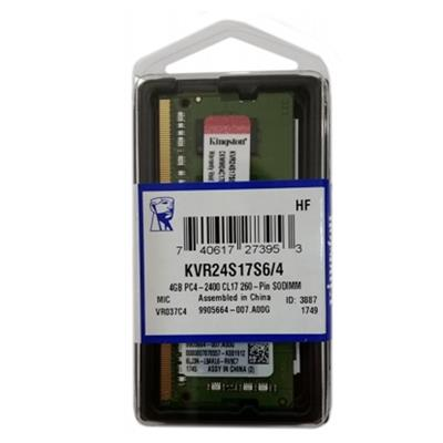 RAM 4GB DDR4 2400MHZ 260-PIN - Kingston KVR24S17S6/4