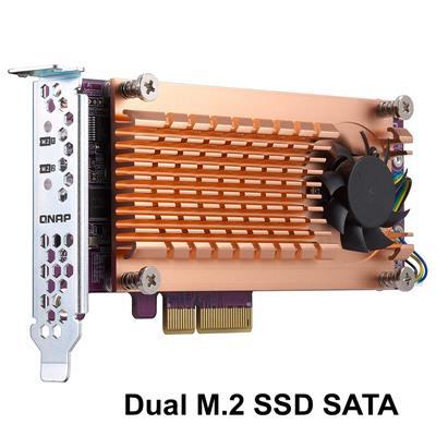 Placa PCIe Dual M.2 SSD SATA - QNAP QM2-2S-220A