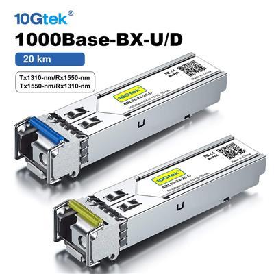 PAR de Modulos SFP BiDi 1.25G 20KM 1000Base-BX SMF Single-LC HUAWEI